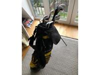 Second hand Cobra golf club set with Callaway driver and Maxfli bag