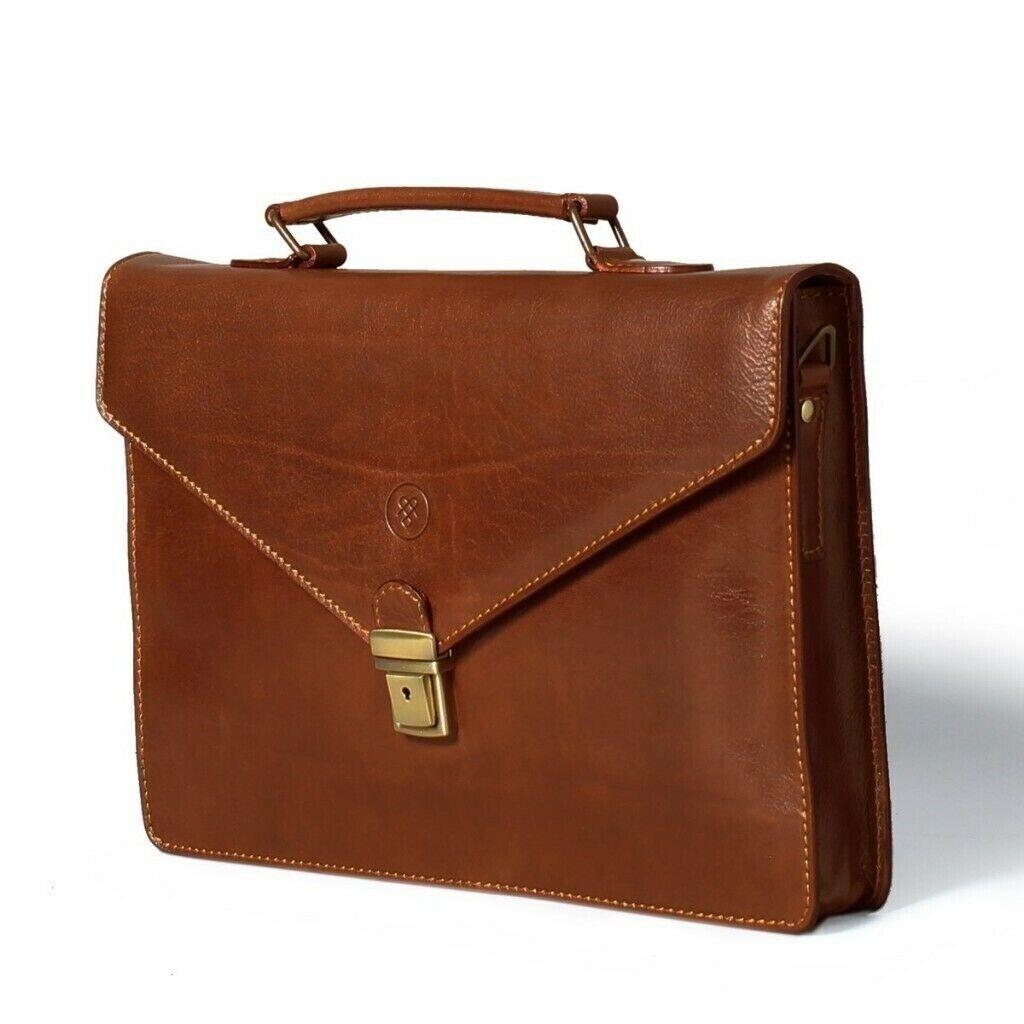 f4607fff9f Maxwell Scott Luxury Italian Leather Small Briefcase   in ...