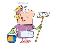 Audreys Home help are now taking on new clients for regular or one off cleans domestic or commercial