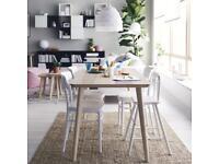 LISABO Table Ash veneer Ikea - very pretty