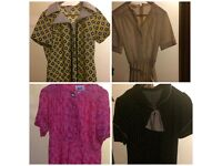 Large collection of vintage clothing, mainly dresses