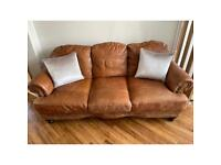 2x brown leather couches