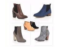 Joblot womens wholesale shoes and boots x 335 pairs of 53 different styles