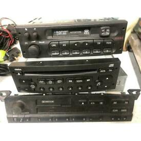 Car radios job lot 3x BMW business, CLARION PU-2471A(J), BLAUPUNKT BOSCH GRUPPE