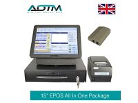 """EPOS System for Restaurants with Software, Cash Till and Printer - 15"""" Touch Screen"""