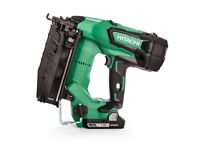 HITACHI NT1865DBSL/JX 16GA BRUSHLESS STRAIGHT FINISH NAILER - 2 X 3.0AH BATTERIES