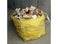 Builder's Bag of Logs / Firewood. Hardwood / Softwood mix. Bulk Seasoned Dried