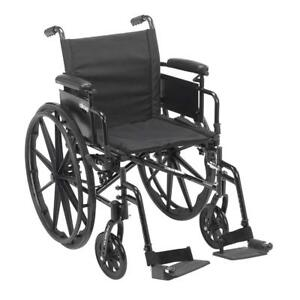 NEW Drive Medical Cruiser X4 Lightweight Dual Axle Wheelchair with Adjustable Desk Arms Seat