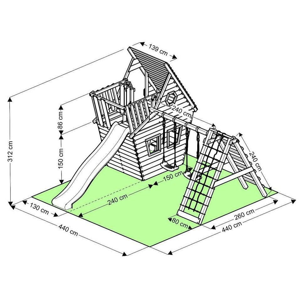 Klettergerüst, Spielturm, Wunderhäuschen M150, Zubehör & Lieferng in Wandsbek - Hamburg Rahlstedt