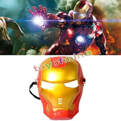 Iron Man Mask for Kids Superhero Costume Halloween Fancy Dress Up