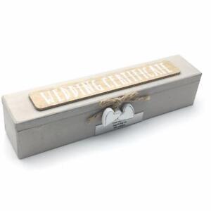 Personalised Vintage Style Wooden Wedding Certificate Holder WG715-P