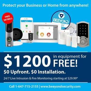 Free Smart Security Alarm System! 3 months Free! $0 Upfront! Free Skybell Camera! Starting from $29.99! 5 Star Reviews!