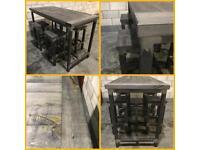 Kitchen island/breakfast bar/4x stools/industrial/Rustic/Bar/pub/restaurant