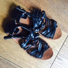 Leather sandals size 3