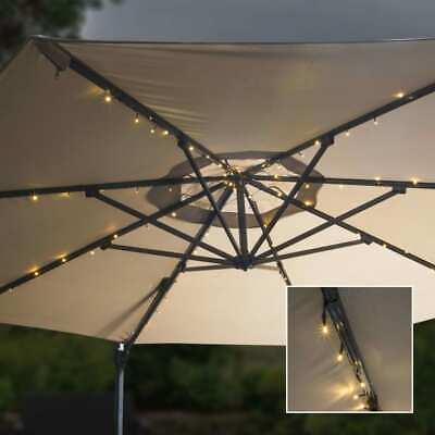 HI Tira de Luces LED Solares para Sombrilla Lámparas Exterior Terraza Patio