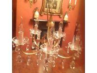 Vintage 5 Arm chandelier light