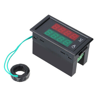 Dual Digital Ac Voltmeter Ammeter Lcd Volt Ampere Meter 100a