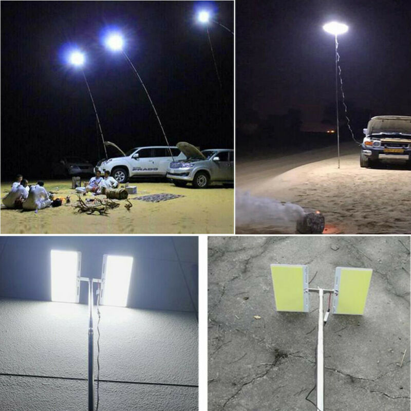 Telescopic COB Rod LED Fishing Outdoor Camping Lantern Light