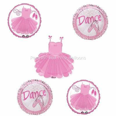 5 pc BALLERINA ballet DANCE recital BALLOONS TUTU Sparkle Free Shipping