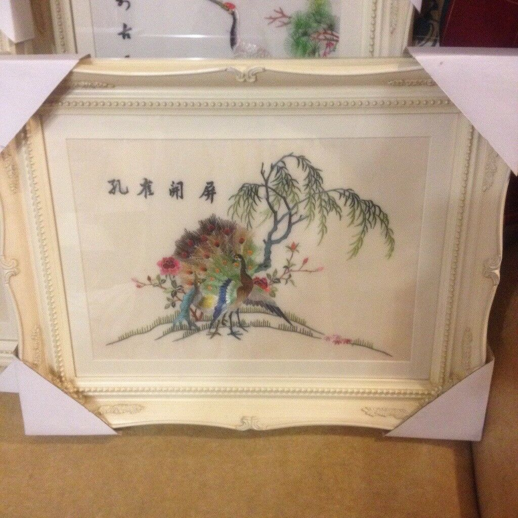 CHINESE SILK EMBROIDERED PICTURES - FANTASTIC DETAIL (AMAZING CRAFTSMANSHIP)