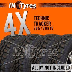 4x 265/70r15 Kingpin Tyres 265 70 15 Mud Terrain MT Retread Like Insa Turbo x4