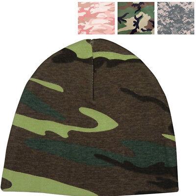 Camo Crib Cap Infant Beanie Baby Hat Cotton Military, Army Digital Pink Woodland