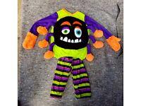 Boys/Girls Halloween Incy Wincy Spider Costume, 1-2 years