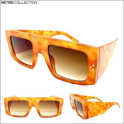 OVERSIZED EXAGGERATED RETRO SUN GLASSES Super Thick Square Orange Tortoise (Thick Hipster Glasses)