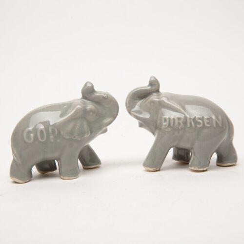 Vintage Pottery GOP Everett Dirksen Elephants Illinois