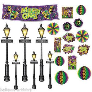 Mardi Gras Carnival Party Scene Setter Add-on Props - STREET LIGHTS DECORATIONS