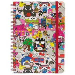 Hello Kitty Sanrio Spiral Notebook with Stickers - Loot Crate Exclusive
