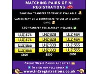 NEW Short NI Number Plates from £370 - Cherished Personal Private Registration plates-Car,Van)