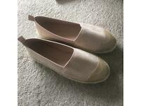 Pink espadrilles size 3 brand new