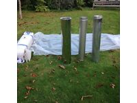 Twin walled Nonfumo flue 150mm dia 1000mm long-brand new