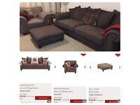 Beautiful large sofa, armchair & matching footstool