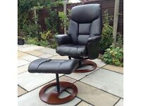 Recliner / Swivel Chair - Chocolate Brown.