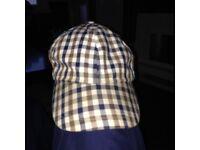 Aquascutum original check hat great condition