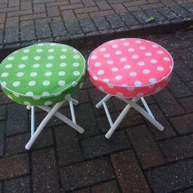 Pair of children's footstools