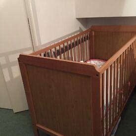 Wooden Ikea Cot