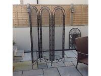 Ornate metal screen/ room divider