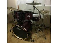 Fully Refurbished Pearl Export (EX) Drum Kit with New Cymbals