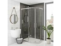 Mode Rand premium 8mm easy clean offset quadrant shower enclosure 1200 x 800