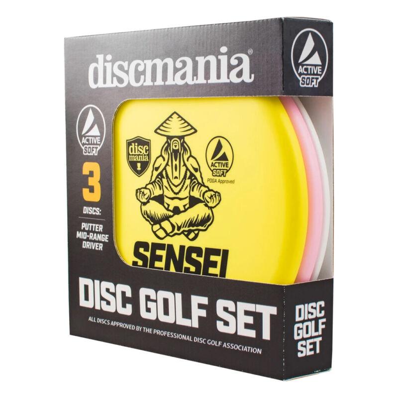 Discmania Active Soft Disc Golf Set of 3 – Putter, Mid-Range, Driver (Assorted)