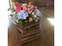 Vintage wooden crates - £15 each, selection available