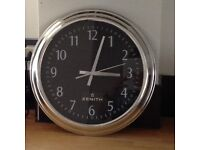 12 Inch Wall Clock Sweep Hand Zenith Style