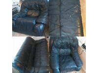 MUST GO TODAY ! LEATHER 3 & 1 SEATER SOFA MUST GO TODAY !