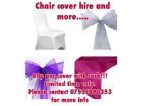 STARTING AT ONLY 65p Per Cover!!! ***CHAIR COVER HIRE AND MORE**!!!