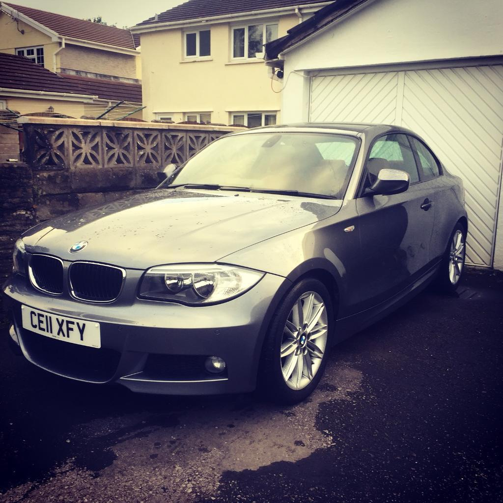 BMW 120d M Sport Plus Coupe with Rare I-Drive *Red Leather*