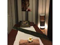 Thai massage+oil massage 1 hr £30,4 hands massage 1 hr £60 .Free parking space in front.