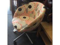 60s style swivel chair